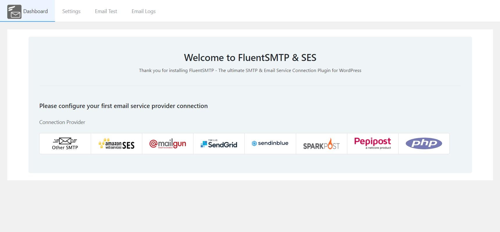 Configuring Fluent SMTP for SendInBlue