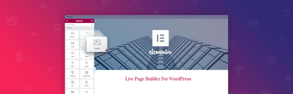 elementor page builder wordpress plugin banner