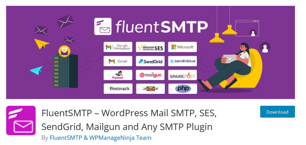 FluentSMTP, best smtp plugin