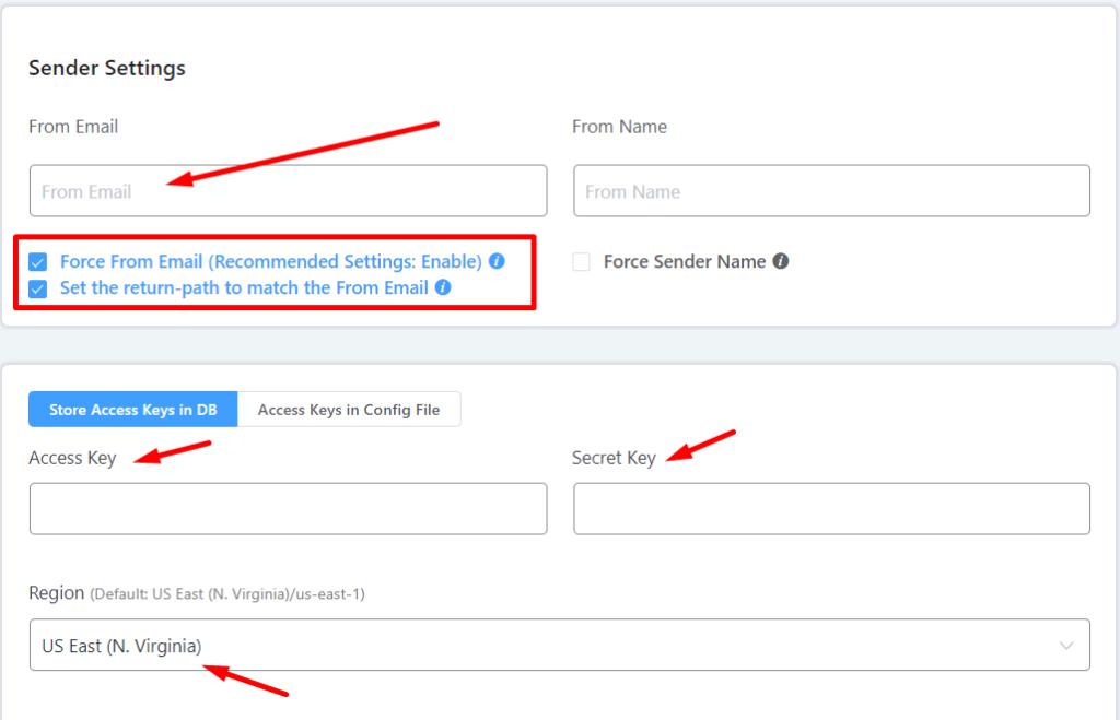 setting up amazon ses for sending wordpress emails